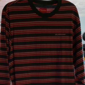 Supreme multicolor striped long sleeve shirt